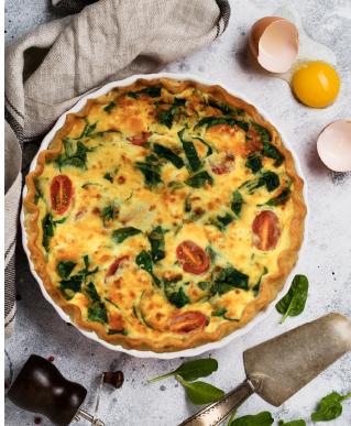 Spinach & Creamy Fetta Quiche